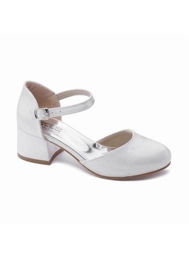 Sanbe 415T702 Kız Çocuk Abiye Ayakkabı Krem
